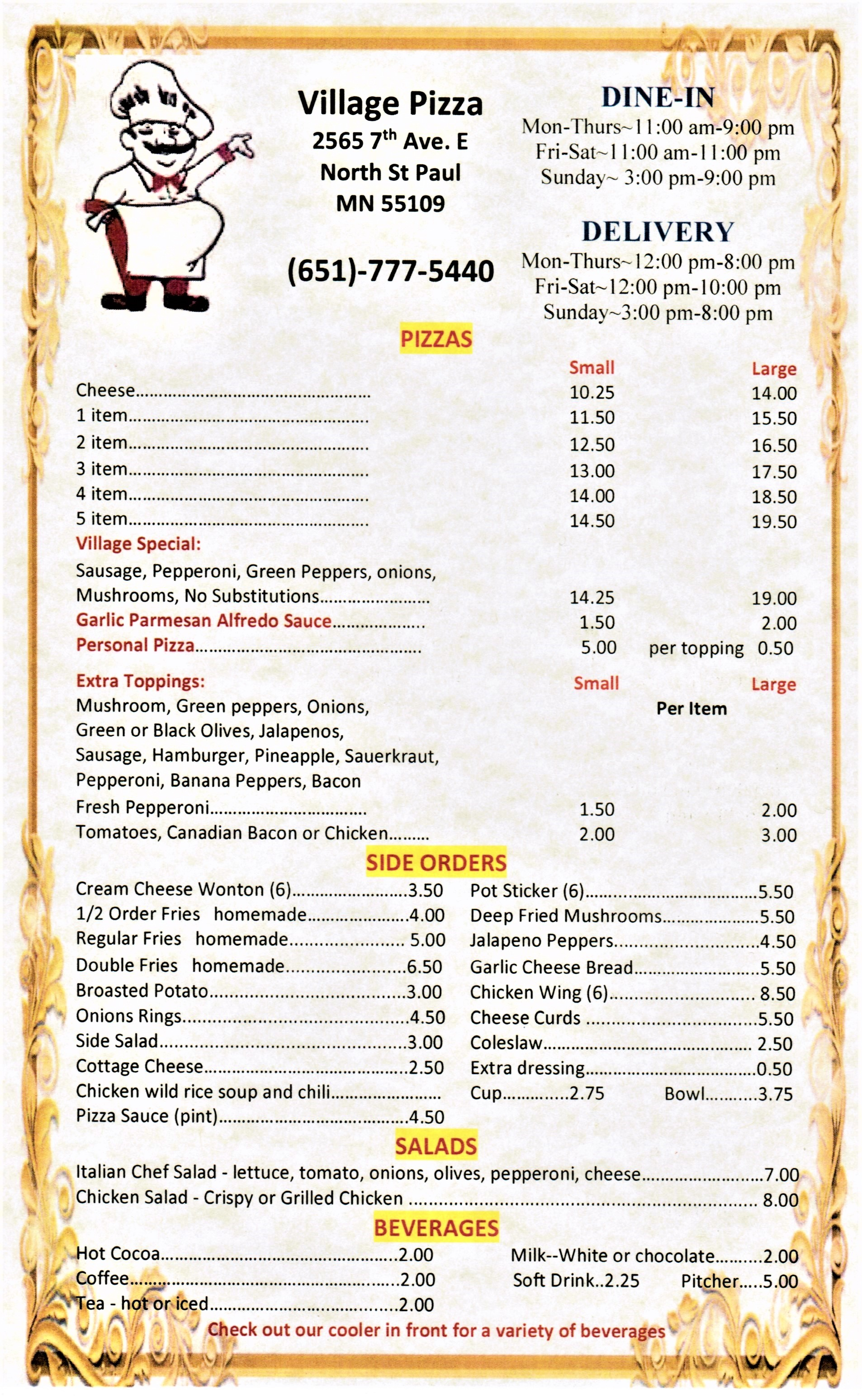Village Pizza Menu-hard copy 1 (2)